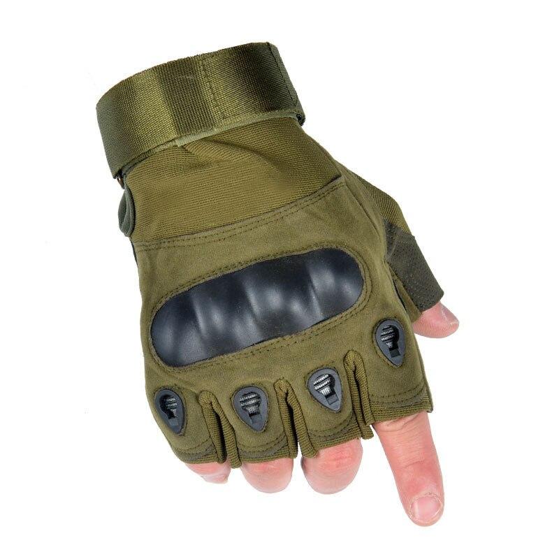 En gros 5 pièces hommes militaire tactique demi-doigt gants dur Knuckle gants pour le tir Airsoft moto en plein air Fitness