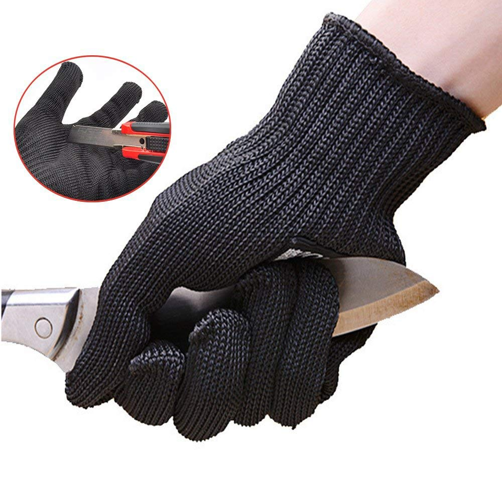 VIM Outdoor Cut Resistant Gloves Anti-Cut Glove Working Protective Finger Kitchen Butcher Wear-Resistant