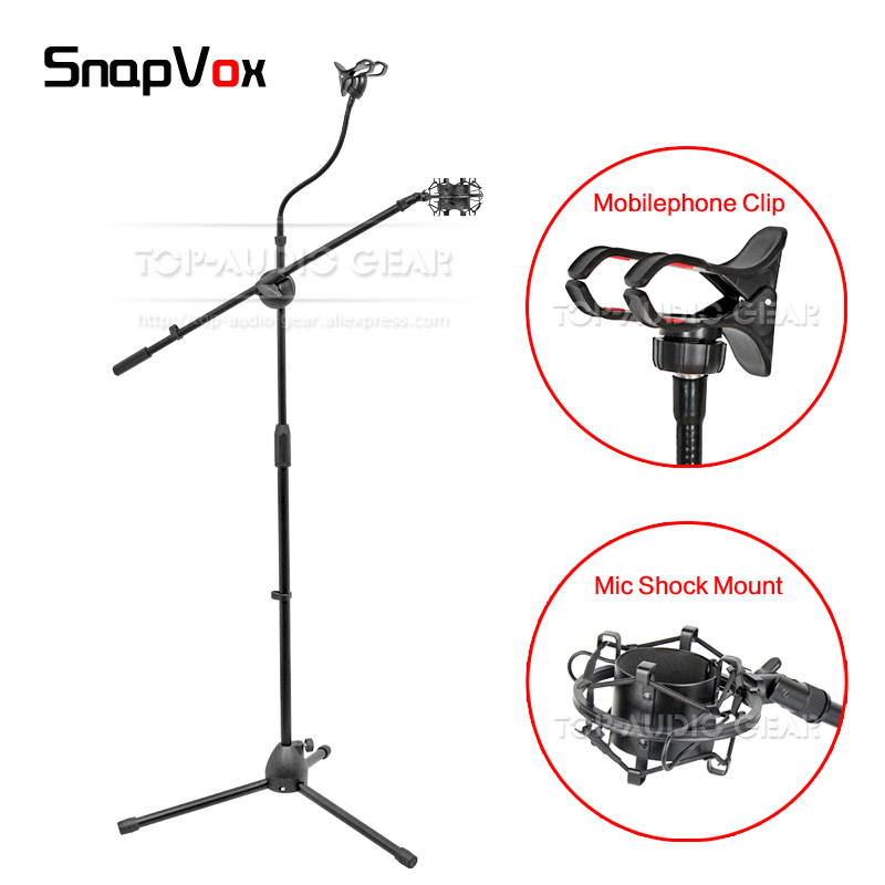 Handy Clip Mic Spinne Halter Ausdrucksvoll Boden Mikrofon Stand Shock Mount Für Audio Technica Zu 4040 4050 3035 At4040 At4050