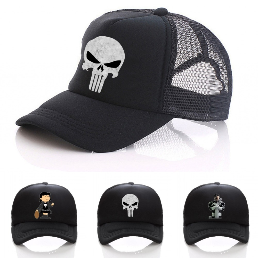 The Punisher   Baseball     Caps   summer Women Men Printed Skull Adjustable Snapback Hats Skeleton Sniper Tactical hat   Cap