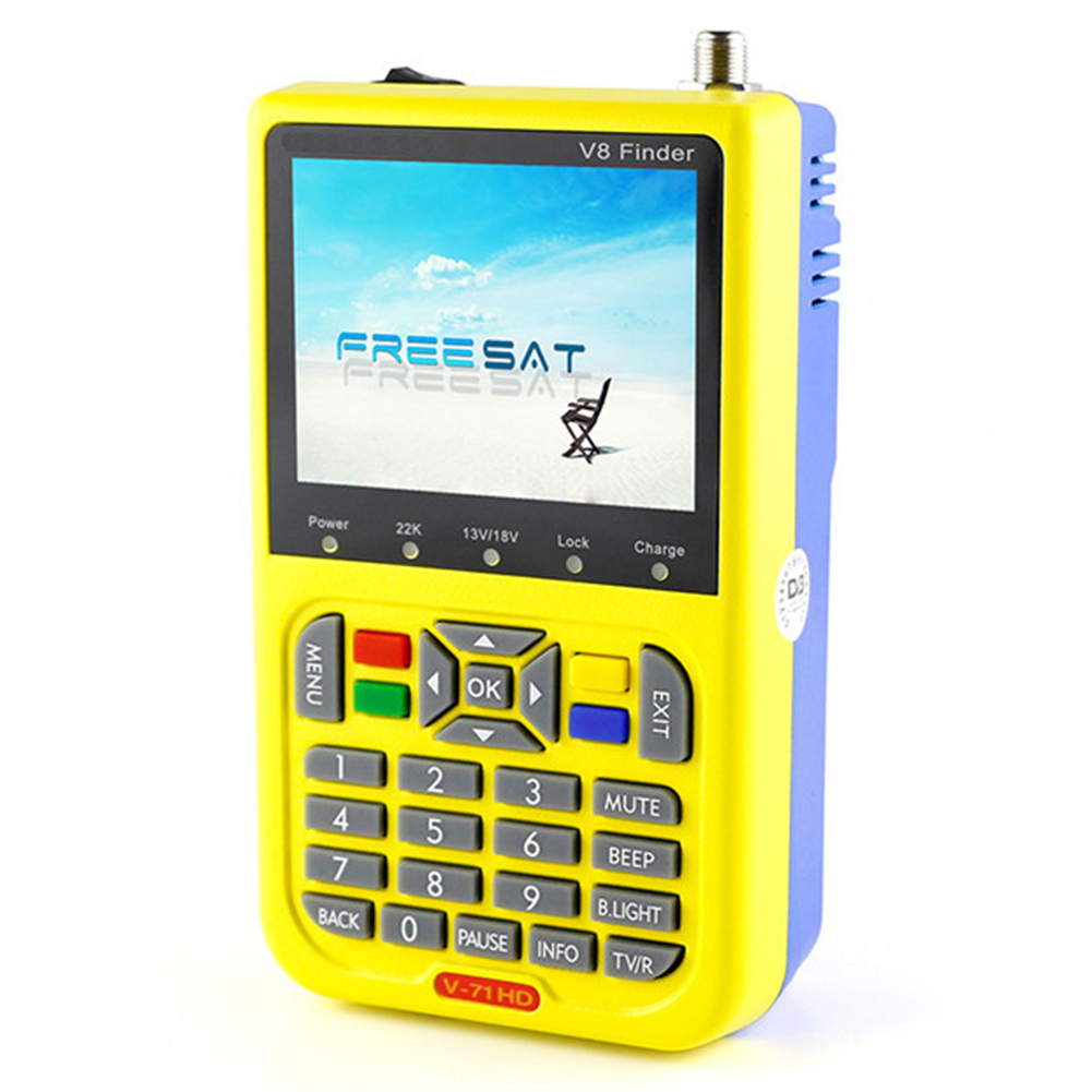 FREE SAT V8 Finder HD DVB-S2 Digital Satellite Finder High Definition Sat Finder DVB S2 Satellite Meter Satfinder 1080P (EU Pl digital satellite satfinder meter satellite finder lcd sat finder satellite signa
