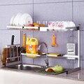 304 кухонная полка из нержавеющей стали для слива раковины DIY Регулируемая полка для фруктовых раковин держатель для сушки посуды кухонный О...