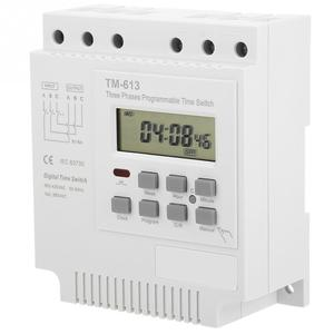Image 4 - TM 163 Programmable Time Relay 3 Phases Time Switch 380V Digital Microcomputer Control Time Relay water pump timer switch White