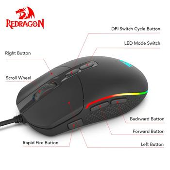 Redragon M719 INVADER Wired Gaming Mouse 1