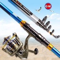 7/8/9/10/12ft Ocean Telescopic Sea Fishing Rod High Carbon Ffiber 4 7 Sections Casting Saltwater Rock River Fish Rods Tackles