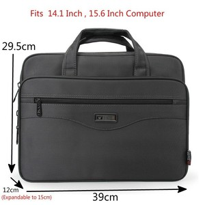 "Image 3 - OYIXINGER Men Briefcase Laptop Bags Good Nylon Cloth Multifunction Waterproof 15.6"" Handbags Business Shoulder Mens Office Bags"