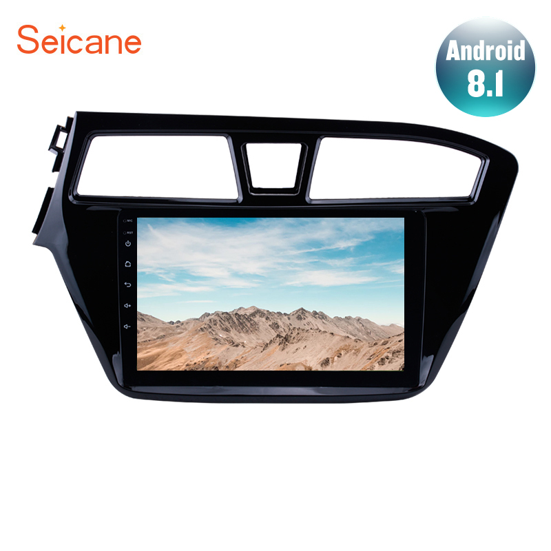 "Seicane 9"" Android 8.1 Car Head Unit Radio Audio GPS Multimedia Player For 2014 2015 HYUNDAI I20 Left Hand Drive support DVR SWC"