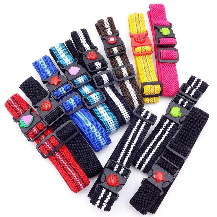 Jungen Kleidung Kinder Jungen Kunststoff Schnalle Gürtel Für Kinder Einstellbare Länge Striped Außen Kunststoff Einfache Gürtel 11 Farben