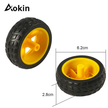 Tt Motor Motor Wheels Smart Car Chassis Robot Remote Control Car Wheels For Arduino Diy Kit image