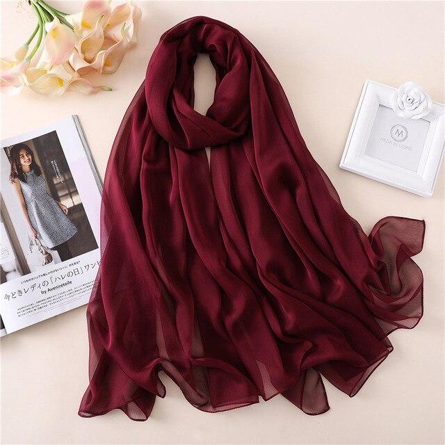 Bufanda de marca de diseñador 2020, bufandas de seda de verano a la moda, chal de señora, estolas de playa de gran tamaño, pashmina foulard hijab