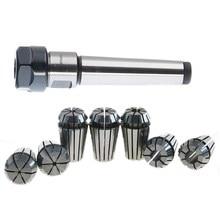 Retail 1set MT2 Shank Holding ER20 M10 MTB2 Collet Chuck Morse 2 Taper Tool Holder+7pcs spring collet CNC Milling Extension Rod