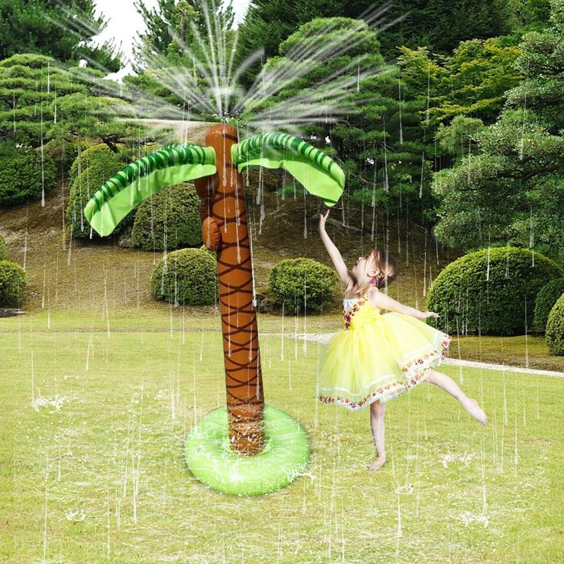 Inflatable Water Sprayer Octopus 1.6M Inflatable Coconut Palm Tree Water Sprinkler Inflated Children Beach Lawn Play ToysInflatable Water Sprayer Octopus 1.6M Inflatable Coconut Palm Tree Water Sprinkler Inflated Children Beach Lawn Play Toys