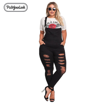 Women Jumpsuit Solid Denim Plus Size Backless Long Jumpsuit Vintage Slim Streetwear Black Hollow Waist 1
