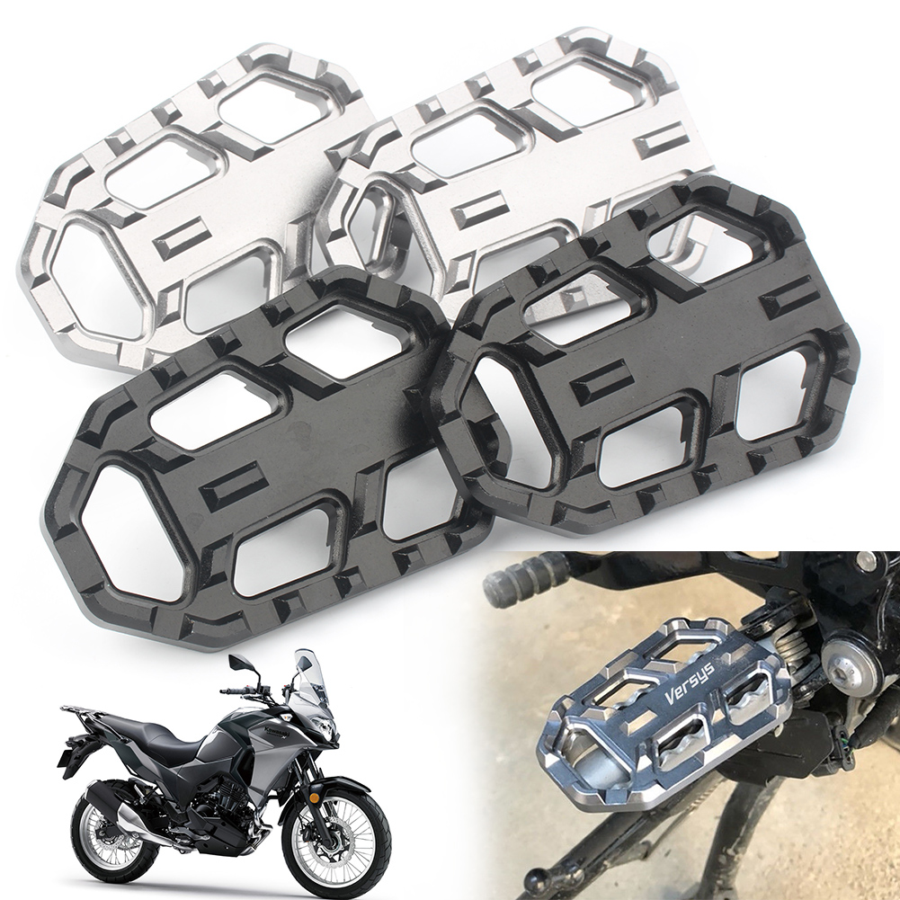 For Kawasaki VERSYS-X300 2017-2018 & VERSYS 650 VERSYS 1000 2015 2016 2017 2018 CNC Aluminum Wide Foot Pegs Footrest 2pcs