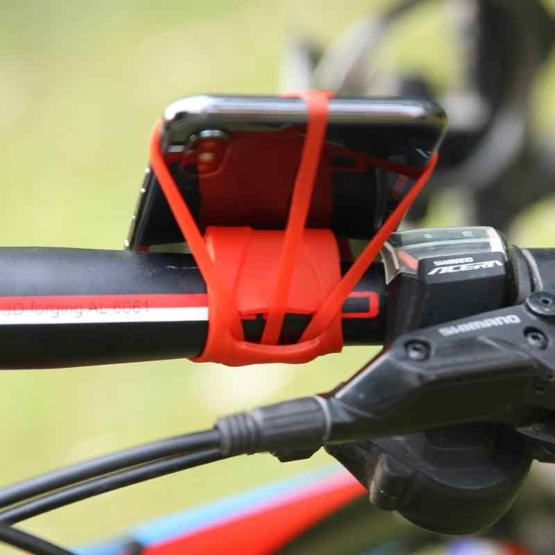 Universal Silicon Strap Telefon Halter Band Mountain Road Bike Telefon Taschenlampe Bands Elastische Bandage Halterung Bike Zubehör
