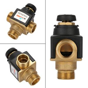 Image 3 - Hot 1Pc 3 Way DN20 Male Thread Brass Thermostatic Mixing Valve for Solar Water Heater