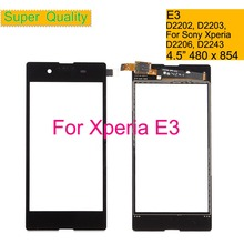 10Pcs/lot For Sony Xperia E3 D2202 D2203 D2206 D2243 Touch Screen Digitizer Front Glass Panel Sensor Lens DUAL D2212 NO LCD стоимость