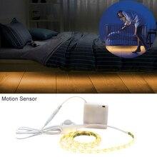 Battery Operated LED Strip Light Motion Sensor 5V SMD 2835 5M Powered Stripe Tape PIR Infrared Cabinet Night