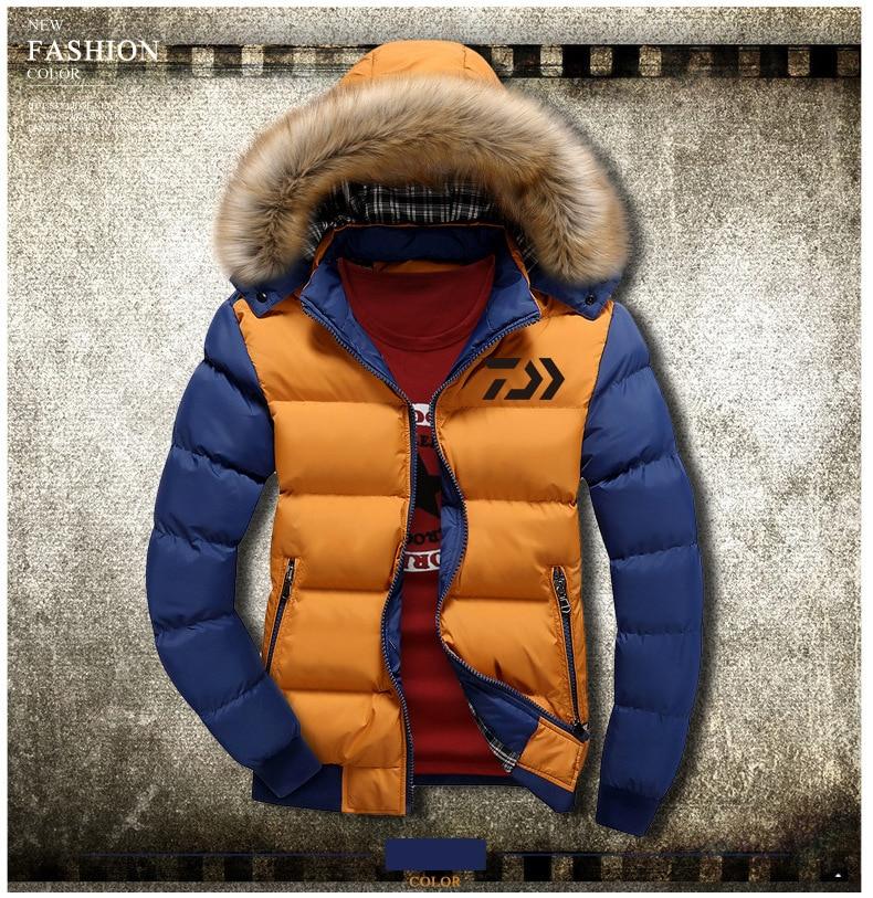 1pc New DAIWA Men Warm Winter Fishing Clothes Cotton Coat Fishing Jacket Plus Thick Windproof Outdoor Sports Jacket