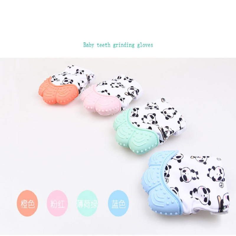 Mitts Teething Baby Silicone Mitten Glove Candy Wrapper Sound Teether Kids Toy