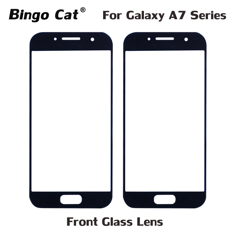 10pc Front Outer Glass Lens Replacement for <font><b>Samsung</b></font> Galaxy A710 A7 <font><b>A720</b></font> 2017 2016 <font><b>LCD</b></font> Display Touch Screen External Glass image
