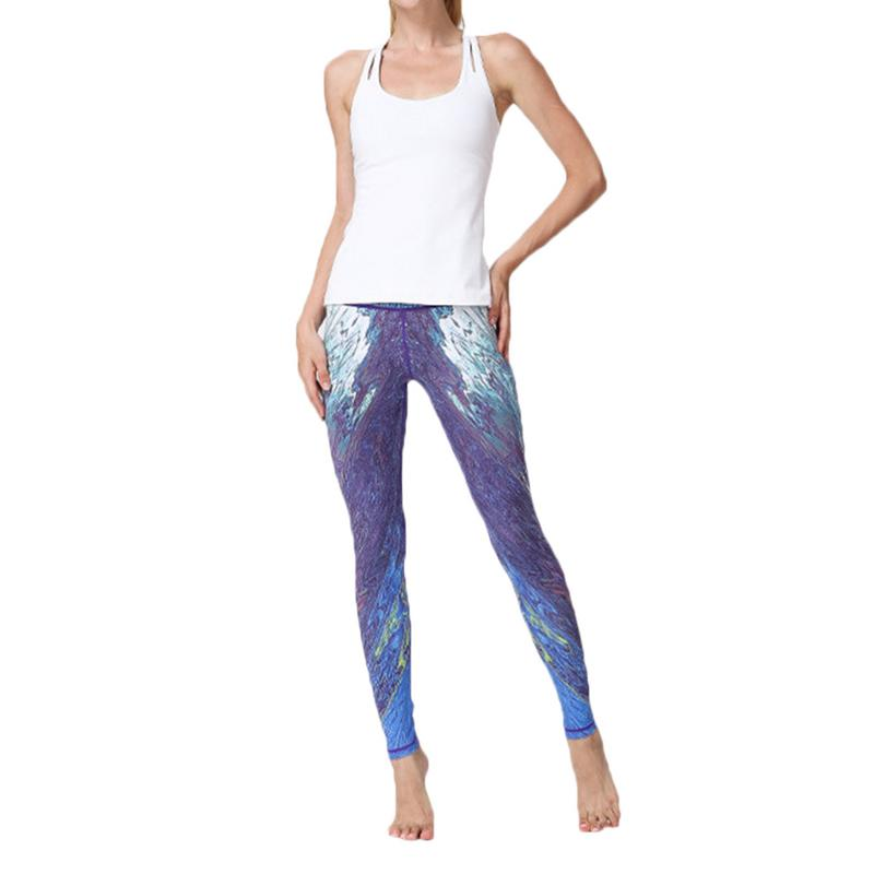 Sports Fitness Print Pants Ladies Quick-drying Leggings High Waist Comfortable Simple Style Running Pants Sportswear Female New