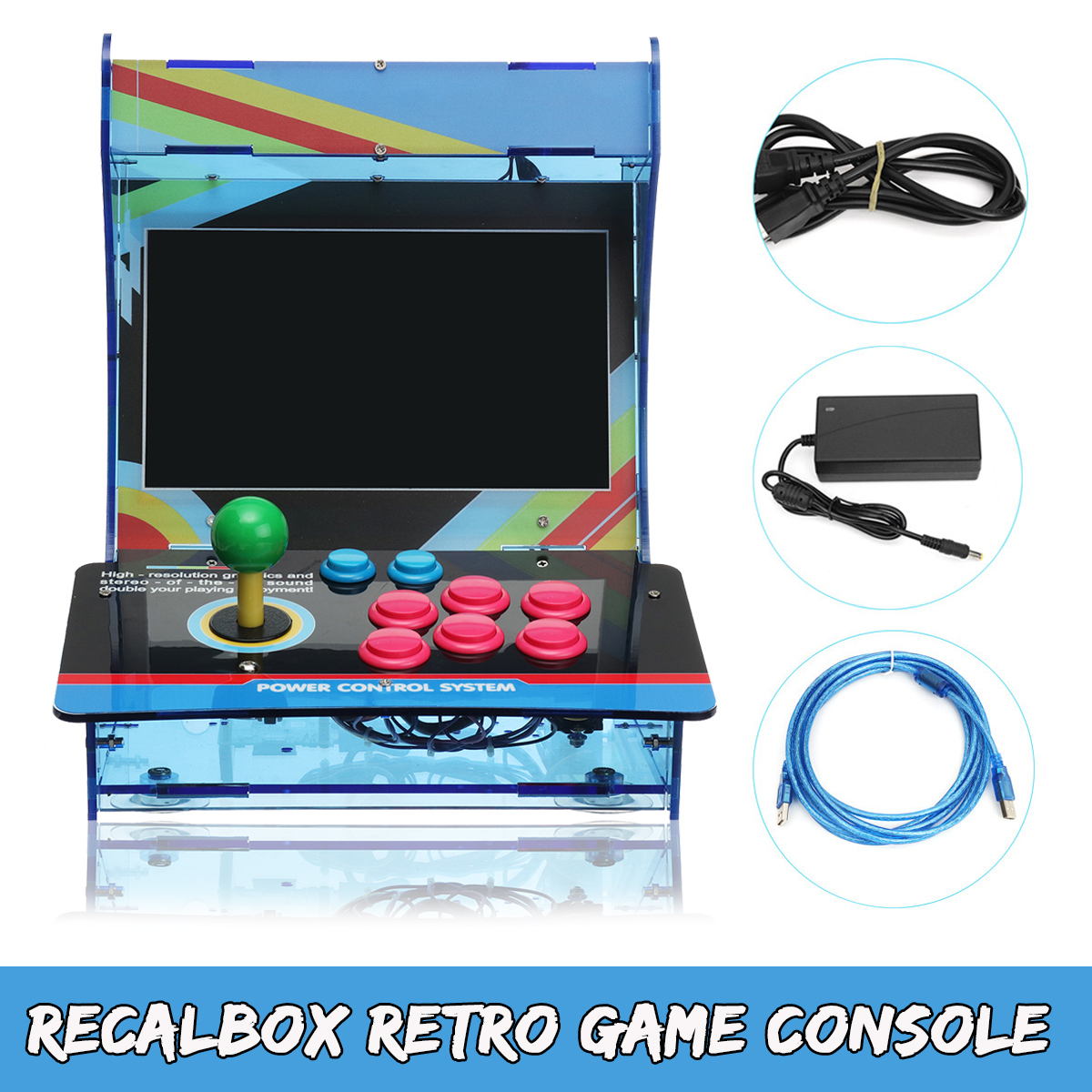 The Newest DIY Wireless Bluetooth Classic Arcade Game Console For RecalBox PS3/PC/LCD TV Home/Party/KTV/Bar Arcade Game Console цена и фото