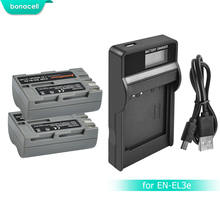 Bonacell 2600 мАч EN-EL3e EN EL3e EL3a ENEL3e Батарея + Батарея ЖК-дисплей Зарядное устройство для Nikon D300S D300 D100 D200 D700 D70S D80 D90 D5 L15