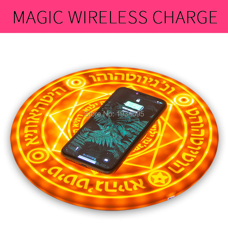 Huawei Compagnon 20 Pro Rapide Sans Fil chargeur pour samsung Galaxy S10 S10 Plus Magique led chargeur rapide pour iphone XS MAX XR 8 plus Téléphone