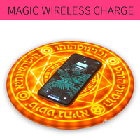 Huawei Mate 20 Pro Fast Wireless Charger for Samsung Galaxy Note 9 Magic Led Fast Charger for iphone XS MAX XR 8Plus Phone