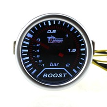 12V Car LED Turbo Boost Vacuum Pressure Bar Gauge Meter Pointer Tint Lens Tools(China)