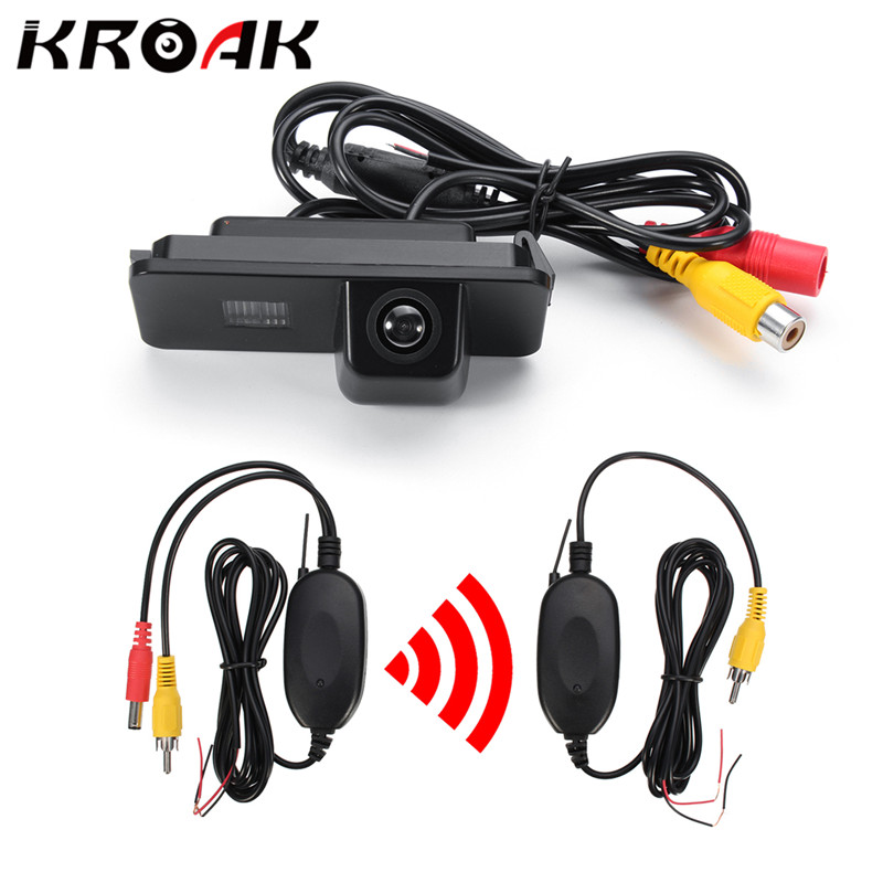 KROAK Wireless Car CCD Reverse Rear Camera Night Vision For VW Golf MK4 Seat Altea For PASSAT/Skoda