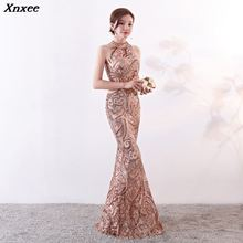 cc85bdfb649a3 Buy champagne gold long dresses sequined and get free shipping on ...
