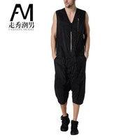 2017 Большие размеры Мужские штаны 27 44 летняя мужская одежда one piece комбинезоны в стиле хип хоп комбинезон мужской боди