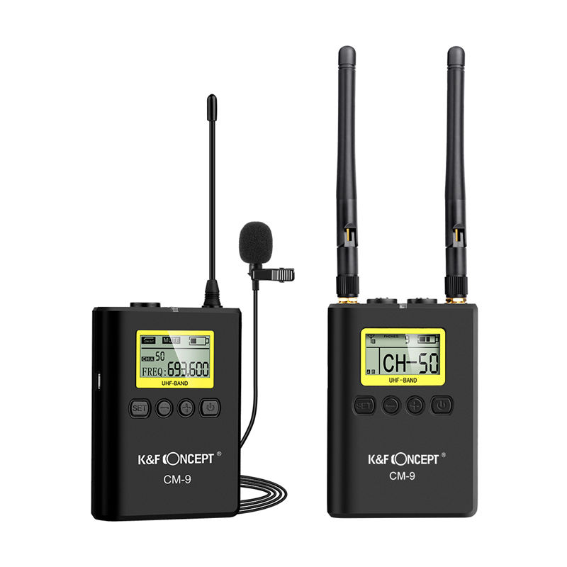 K&F Concept Wireless Microphone Lavalier Lapel Mic System 1 Transmitter+1 Receiver Lcd Display Screen For Dslr Camera CamcordeK&F Concept Wireless Microphone Lavalier Lapel Mic System 1 Transmitter+1 Receiver Lcd Display Screen For Dslr Camera Camcorde
