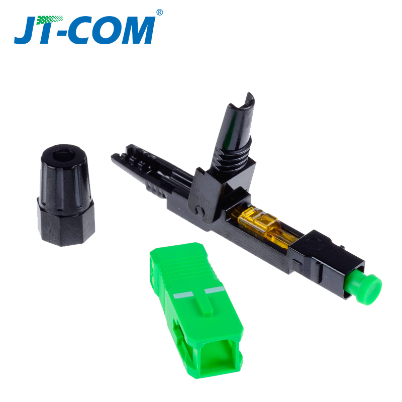 Image 5 - 100pcs SC APC optic Fiber fast connector, field assembly embedded UPC Single mode optical quick cold connector for FTTH cable-in Fiber Optic Equipments from Cellphones & Telecommunications