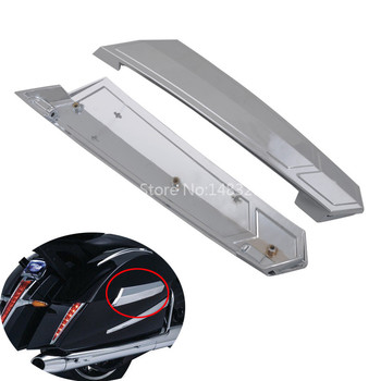 Motorcycle Left And Right Silver Saddlebag Hinge Covers Fits For Victory Touring New 2010-2017