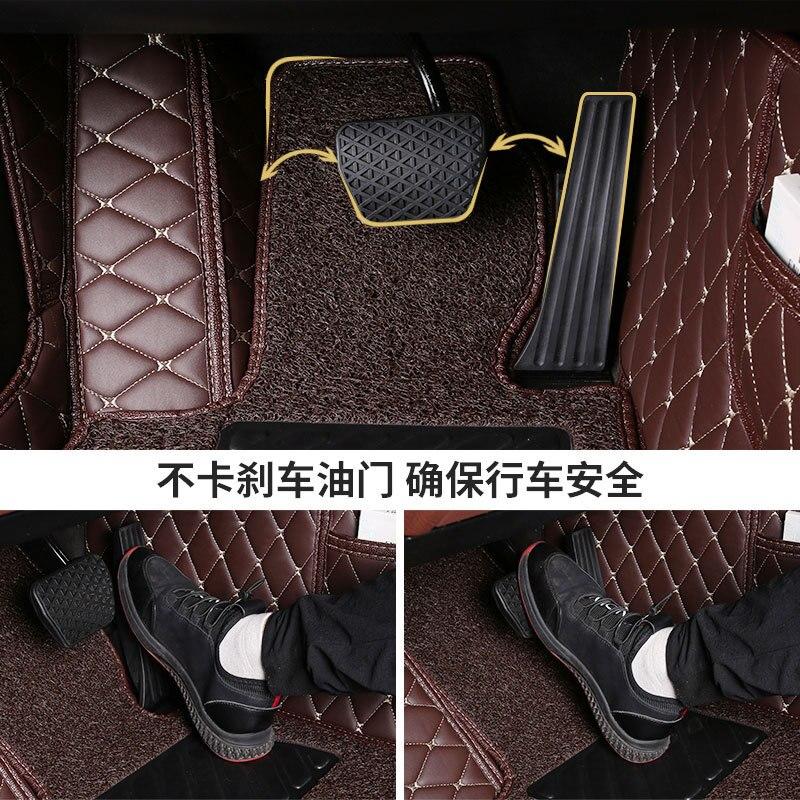 Myfmat custom foot leather rug mat for SKODA Octavia Fabia Superb Yeti Rapid RS VOLVO S40 S80L S80 XC60 C30 C70 XC90 V60