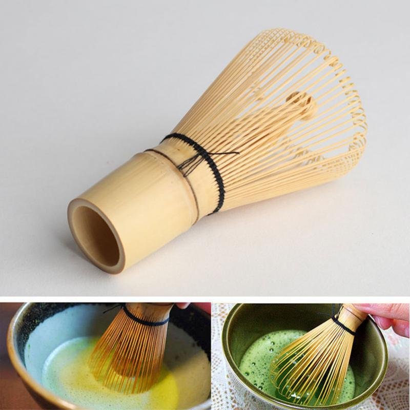 1 шт. зеленый чайный венчик для пудры Matcha бамбуковый венчик Bamboo Chasen Полезная щетка инструменты кухонные принадлежности title=