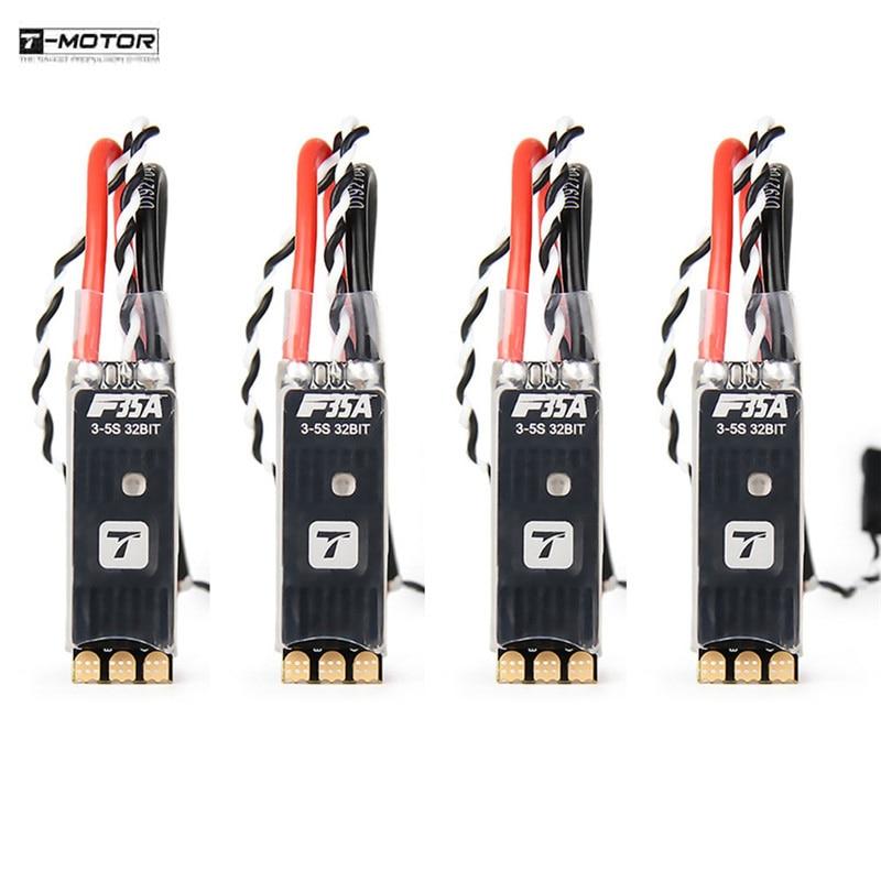 1 /2 / 4PCS T-motor F35A 35x11mm 35A BLheli_32 32bits 3-5S Brushless ESC DShot1200 W/ RGB LED For RC Models Parts