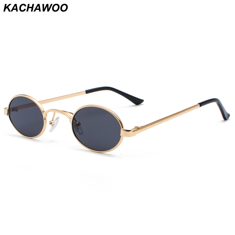 0b63bbe3bd Kachawoo gafas de sol ovaladas pequeñas de hombre montura Vintage para  mujeres gafas de sol Retro redonda decoración gafas Dropship