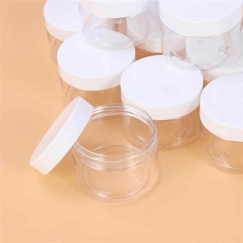 12 Pcs Vuota di Plastica Trasparente Melma di Favore di Vasi a bocca Larga di Plastica Riutilizzabile Contenitori con Coperchi per Artigianato Cosmetici Lozioni