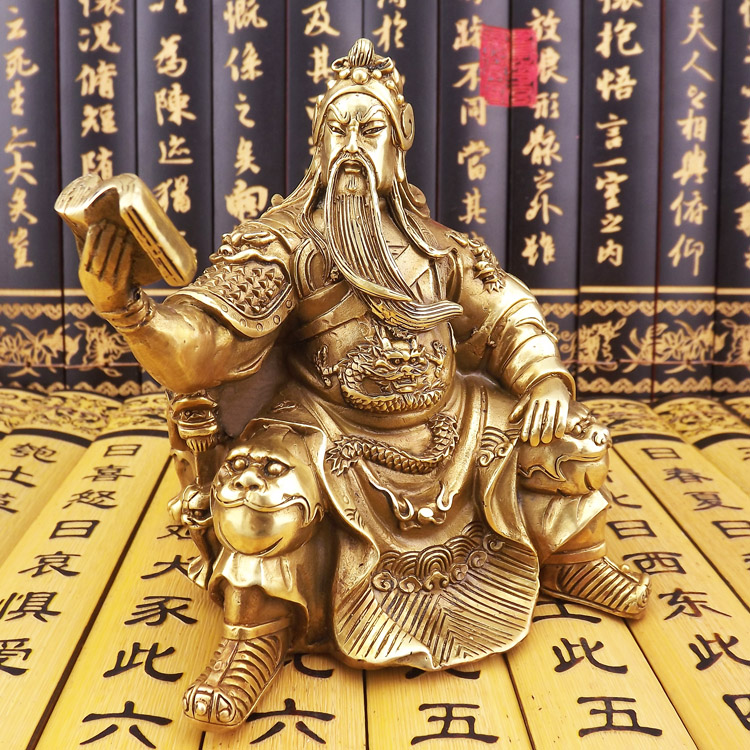 Copper statue of Guan Gong, buddha ornaments, statues, Guan Yu, the God of wealthCopper statue of Guan Gong, buddha ornaments, statues, Guan Yu, the God of wealth