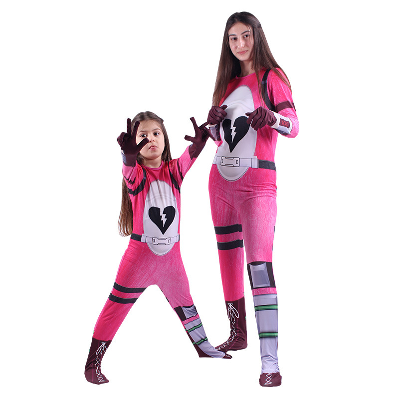 Fortress Night Costume Cosplay For Kids Fortress Night Game Battle Jumpsuit Pink Suit Clothing
