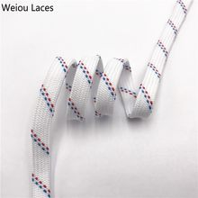 Weiou Classic 7mm Cool White Red Blue Flat Tublar Shoelaces Brand New Athletic Boots Laces For Men Lady Women Sports Sneakers(China)