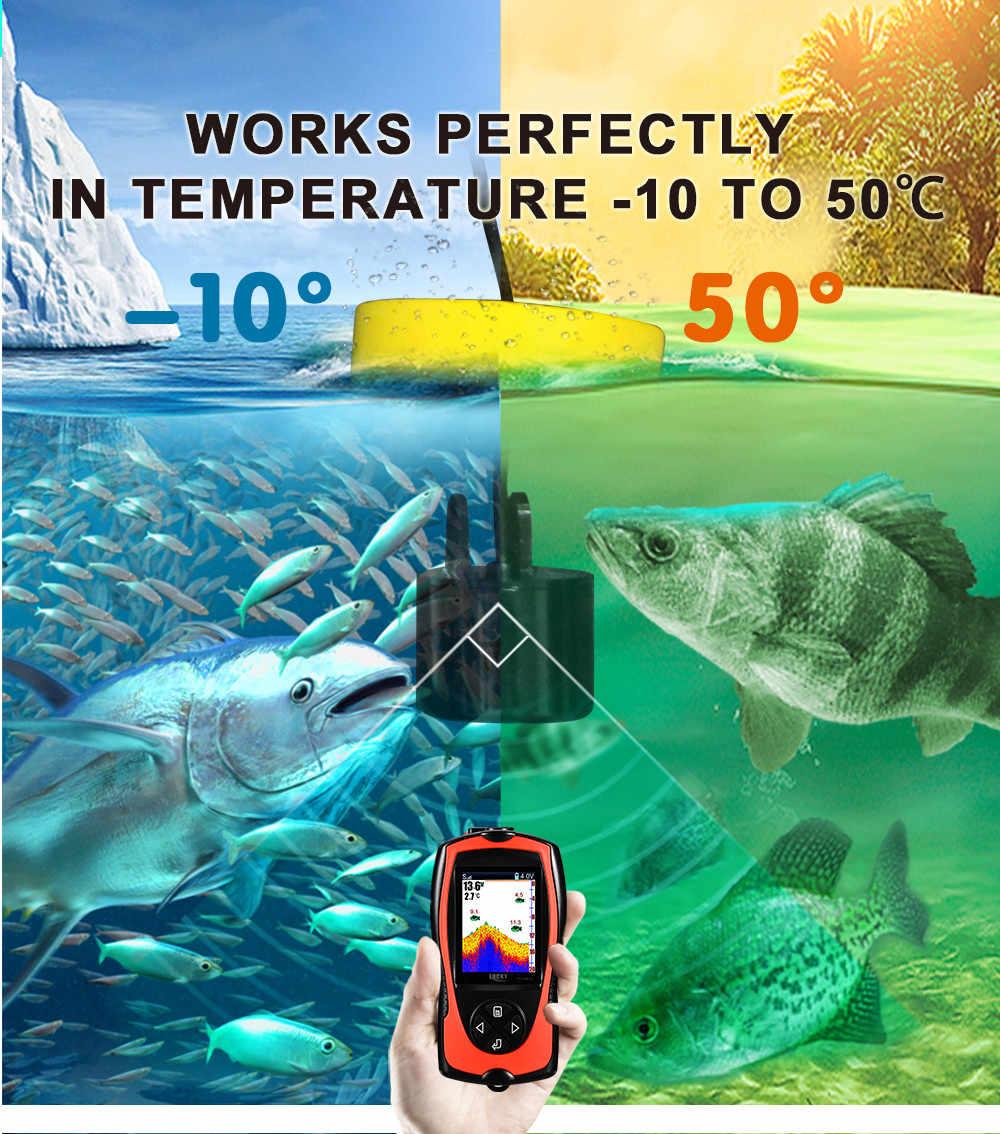Menu multilingue Sonar per la pesca Portable fish finder di Profondità sonar ecoscandaglio fish finder Barca ghiaccio lago