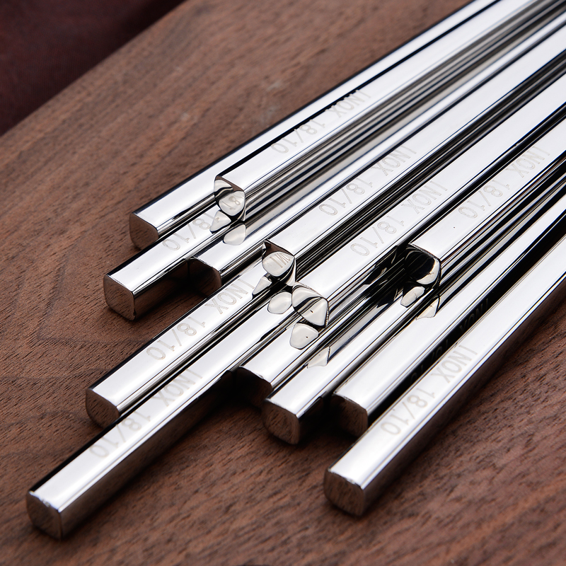 18-10 Stainless Steel Chopsticks Ten pairs of Chinese Hollow Tableware Japanese Korean