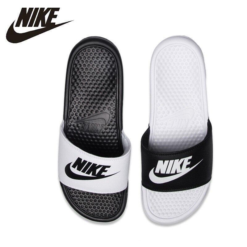 Nike BENASSI JDI Original New Fashion Black And White Sports Slippers Anti-slip Sandals #818736-011