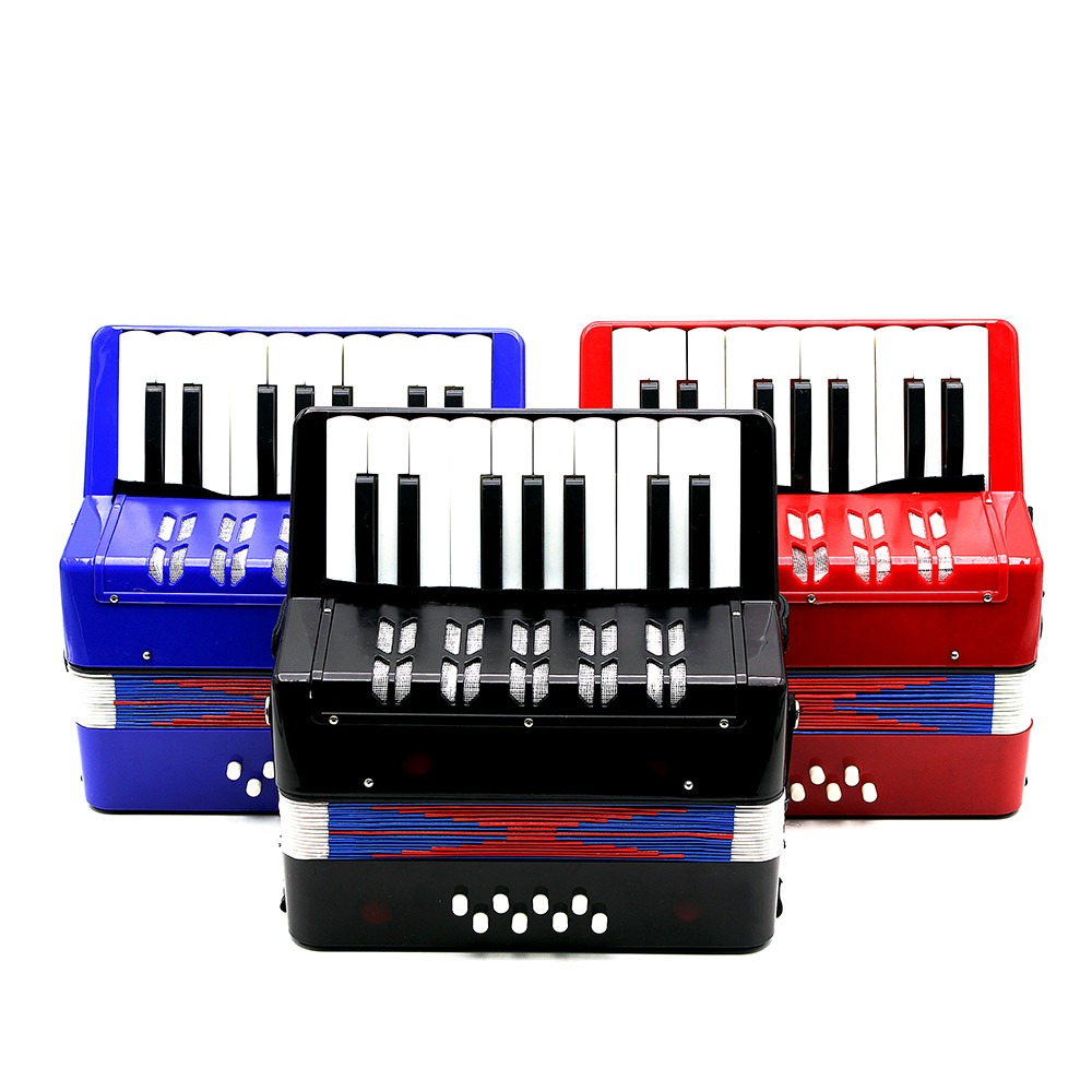 17 Key Accordion 8 Bass Mini Small Accordion Educational Musical Instrument Rhythm Band Toy for Kids