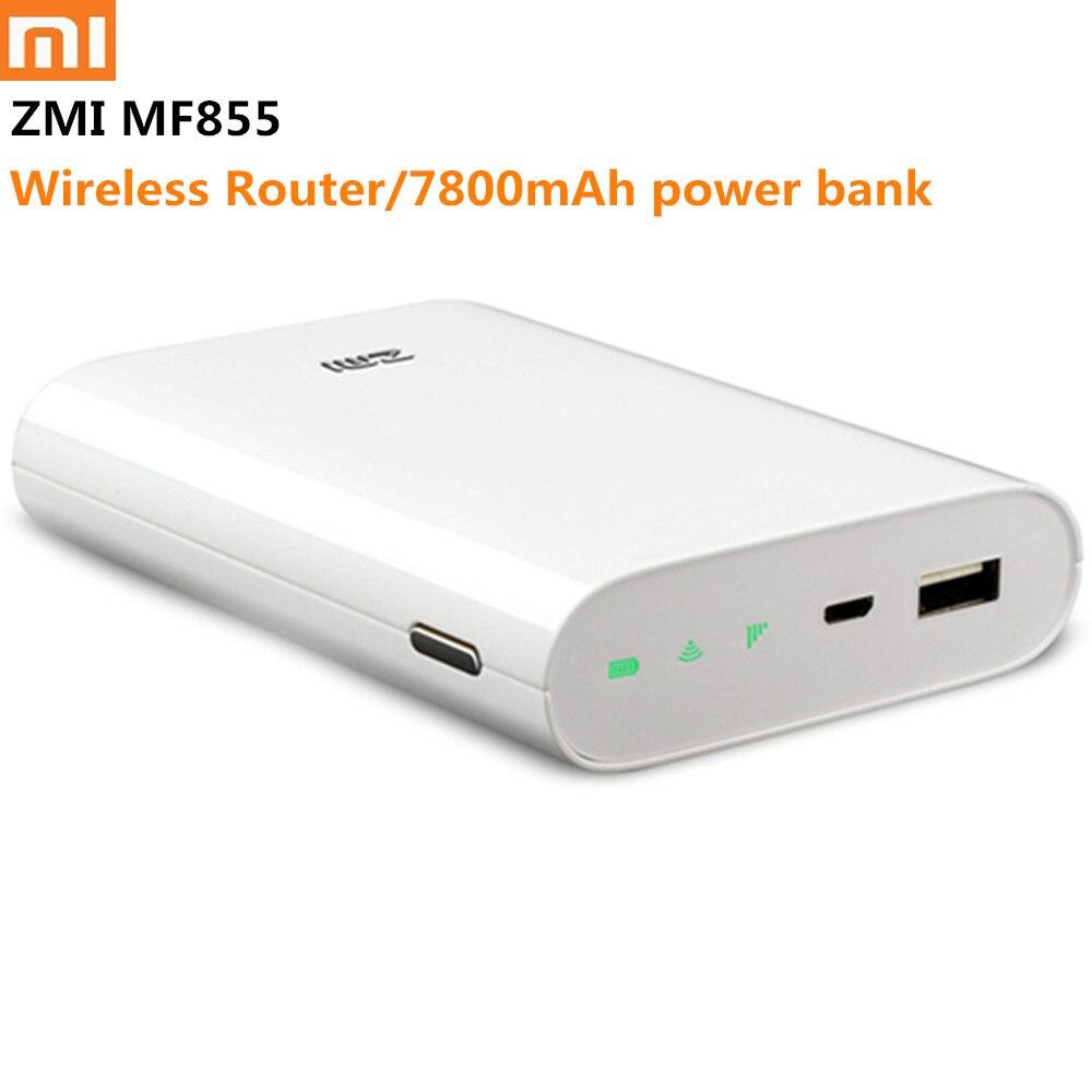 Routeur Wifi d'origine Xiaomi ZMI 4G 7800 mAh MF855 3G 4G répéteur Wifi sans fil routeur Wifi Hotspot Mobile batterie externe Micro USB